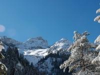 Das tief verschneite Hornbachtal
