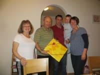 Gästeehrung der 1. Gäste vom Wermenerhof, Fam. Schenk