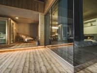 Silberdistel mit Sauna