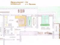 FEWO Hirzerblick Grundriss mit Aufgang vom Garten