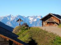Aussicht ins Karwendel-Gebirge