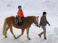 Ponyreiten Kind