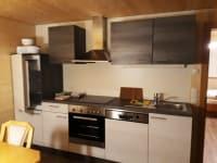 Küche in den Ferienwohnungen am Bauernhof Farnach