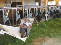 Bauer Bernhard beim Mittagsschlaf