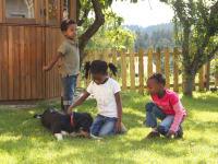 Verspielte Stunden mit Hofhund Nero
