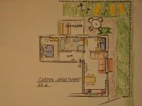 Garten Appartement Grundriss