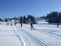 Langlaufen beim Sportplatz