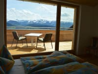 Wohnung Hochgratblick Schlafzimmer Bergblick
