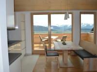 Wohnung Hochgratblick Blick aus dem Küchenfenster