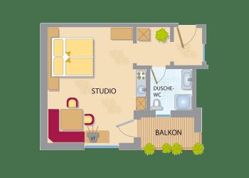 Appart-Studio Komfort