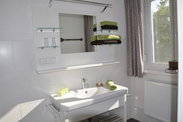 Badezimmer in der Ferienwohnung Furmint