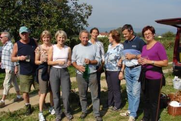 Gäste bei der Weinlese