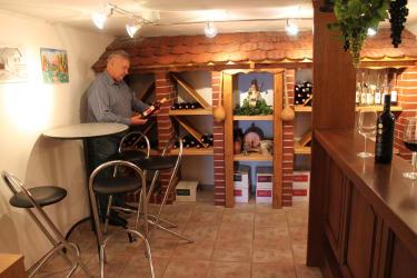 Hauseigene Vinothek im Keller des Kellerstöckls