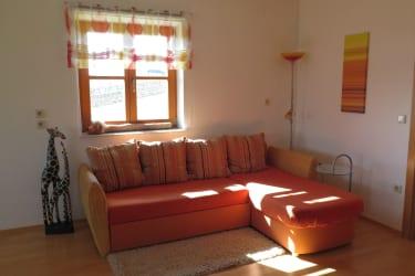 gemütliche Couch zum Ausziehen