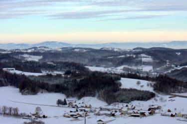 Winterliches Neuhauser Hügelland