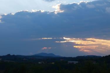 Sonnenuntergang über Bad Gleichenberg