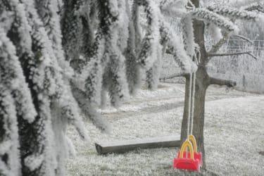 Eine Winterschaukel