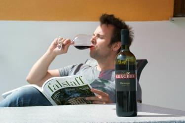 Der Wein schmeckt...