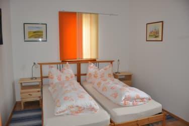 Die Betten kann man zusammen oder getrennt stellen