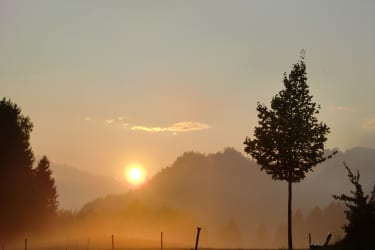 Sonnenuntergang am Goldberg