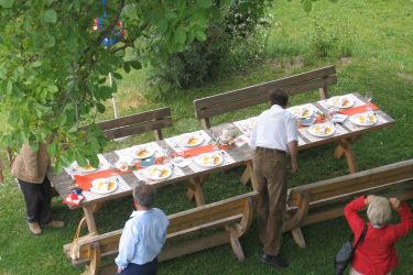 Feier im Garten