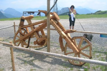 Bicycle made of wood at Nassfeld..