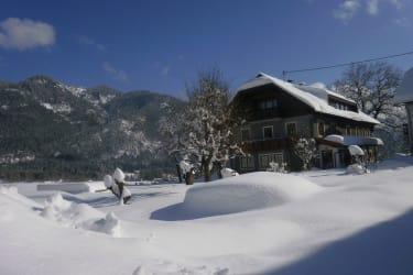 Bauernhof Reiter im Winter