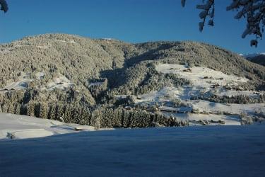 Der Blick auf die gegenüberliegende Talseite