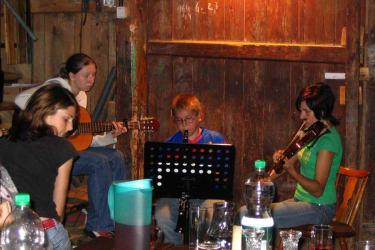 Hausmusikabend in der Scheune