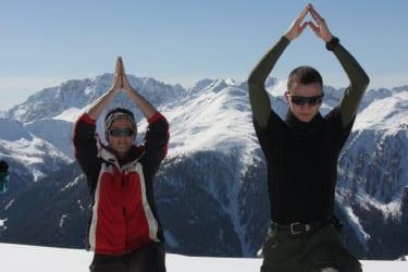Yoga und Winterurlaub