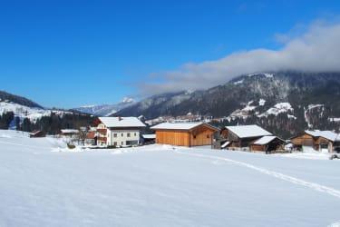 Bauernhof Ober im Schnee