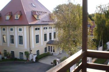 Balkonblick auf das Schloß