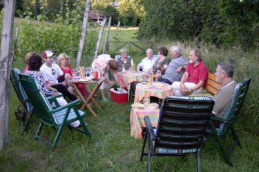 Lesung im Weingarten