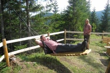 Holzhängematte