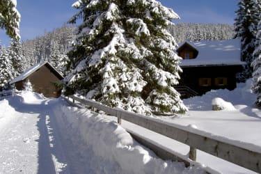 Wintertraum vor der Fuggerhütte