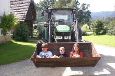 ...unterwegs mit dem Traktor