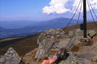 ein Berggipfel der Saualpe über 2000 m