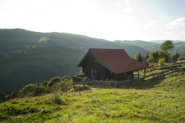 Hütte Richtung Westen