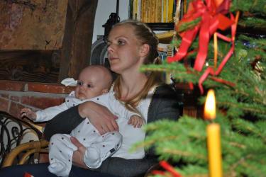 Simon der Jüngste unserer Familie mit Angelika der Juniorchefin