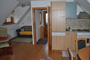 Küche in der oberen Wohnung