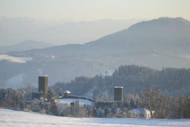 Blick n. Süden auf die Burgruine Liebenfels