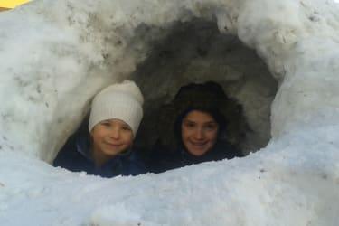 Schnee am Essleggerhof