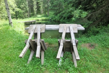 Ruheplatz beim Fischteich