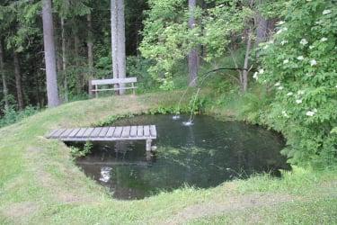 Fischteich hinter der Hütte