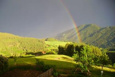 Regenbogen überm Lorenziberg