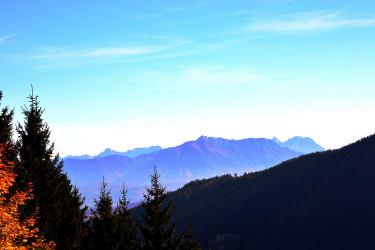 Blick in Richtung 'Steiner Alpen' (Slowenien)