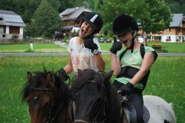 Ausritt mit unseren Ponys Bibi und Blitzi