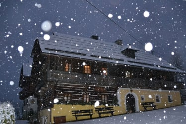 Schneetreiben in Bad Kleinkirchheim