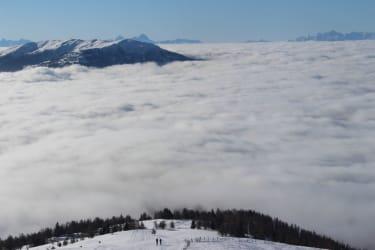 Wolkenmeer am Stubeck Gipfel