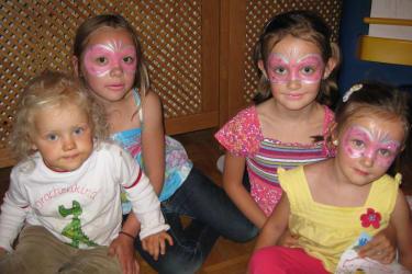 Kinderschminken am Gourmet Bauernhof Mentebauer